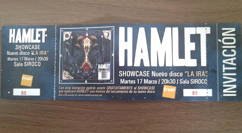 ShowCase Hamlet 17/03/2015 Sala Siroco