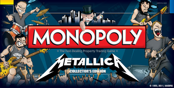 Metallica Monopoly Board Metal Games