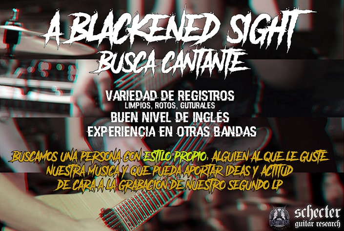 A Blackened Sight buscan cantante